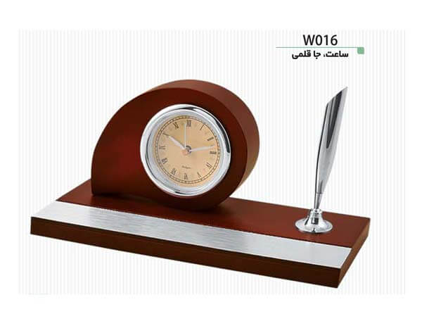 ساعت و جاقلمی رومیزی W016
