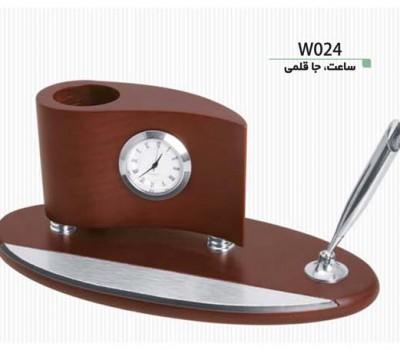 ساعت و جاقلمی رومیزی W024